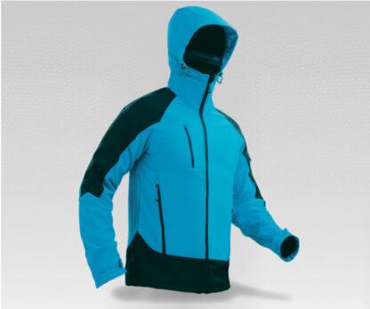 Blue/Black Regatta X-Pro softshell jacket with hood.