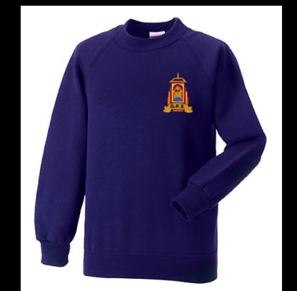 Golspie Primary Crew Neck Sweatshirt Purple P7 Only