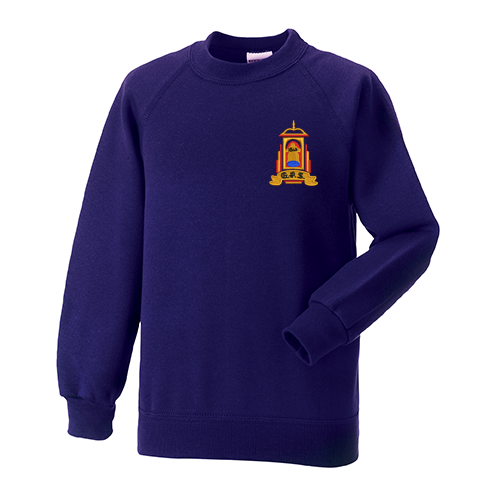 Golspie Primary Crew Neck Sweatshirt Purple P7 Only